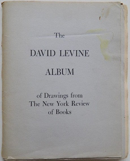 233: David Levine Album of Drawings - 7