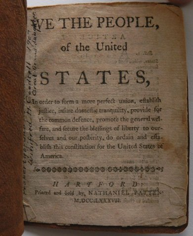 267: 1787 Constitution pamphlet, N. Patten