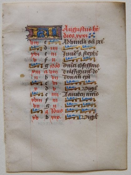 304: 15th c. French Illuminated manuscript