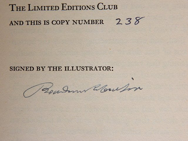 420: 3 Limited Editions Club books 1943 - 8