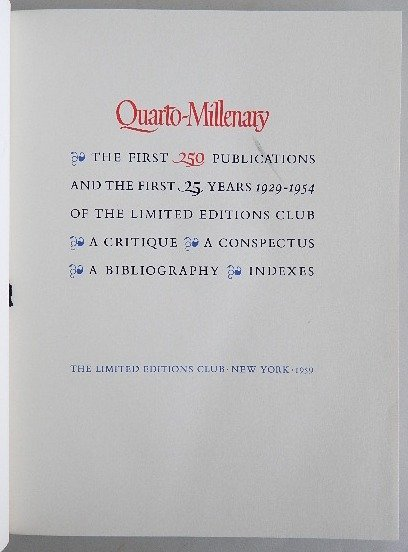 459: 3 Limited Editions Club books 1959 - 4