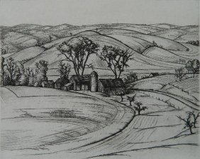 Andrew R. Butler Etching And Dry Point