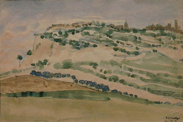 62: Arthur B. Davies watercolor