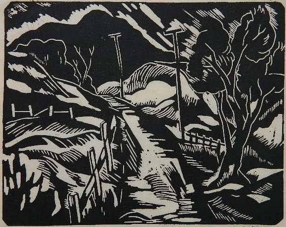 73: Emil Ganso linocut