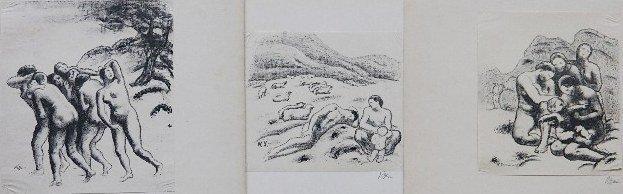 82: Robert Genin 3 lithographs