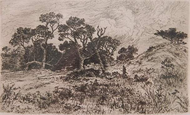 83: R. Swain Gifford etching