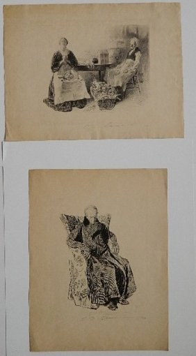 After Charles Dana Gibson 2 Lithographs
