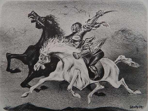 88: William Gropper lithograph