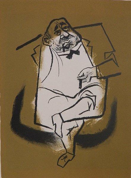 89: William Gropper lithograph