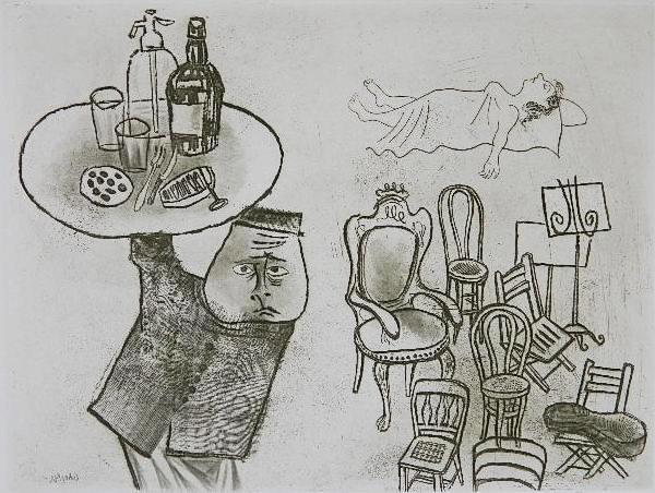 90: William Gropper 2 etchings