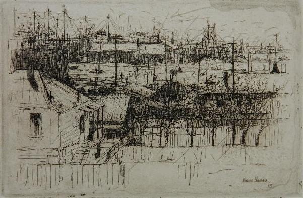 91: Armin Hansen etching