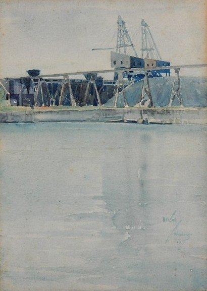 92: Henry Thurland Hanson watercolor