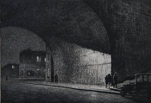 129: Martin Lewis dry point