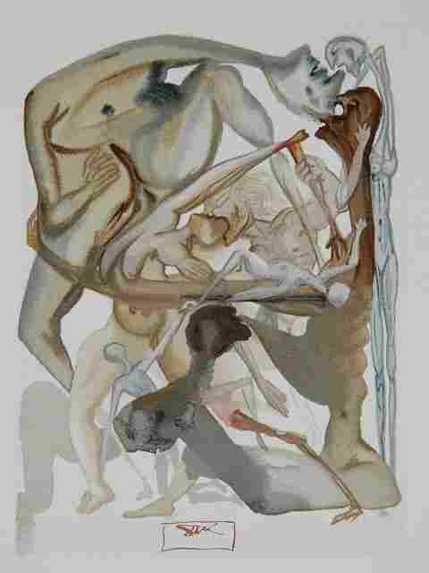 475: Salvador Dali wood engraving