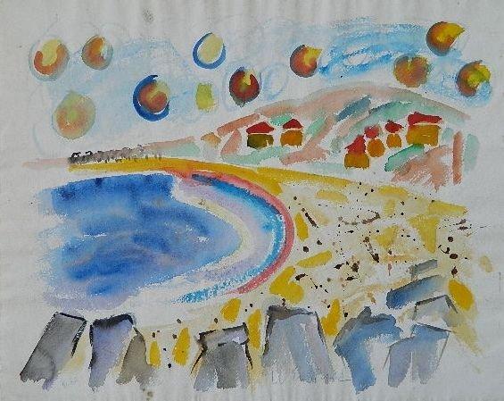 491A: Wayne Ensrud watercolor and graphite