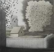 529 Robert Kipniss lithograph