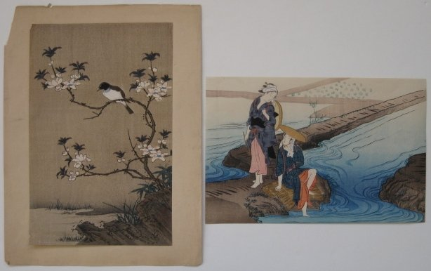 10: 2- 20th c. Japanese school woodblock prints