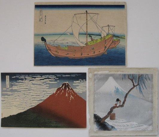 17: after Hokusai- 2 woodblock prints