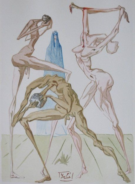 178: Salvador Dali wood engraving