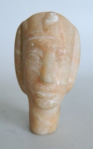 7: Marble sculpture of Pharaoh's head