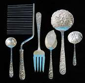 297: 6 S. Kirk & Sons sterling silver utensils