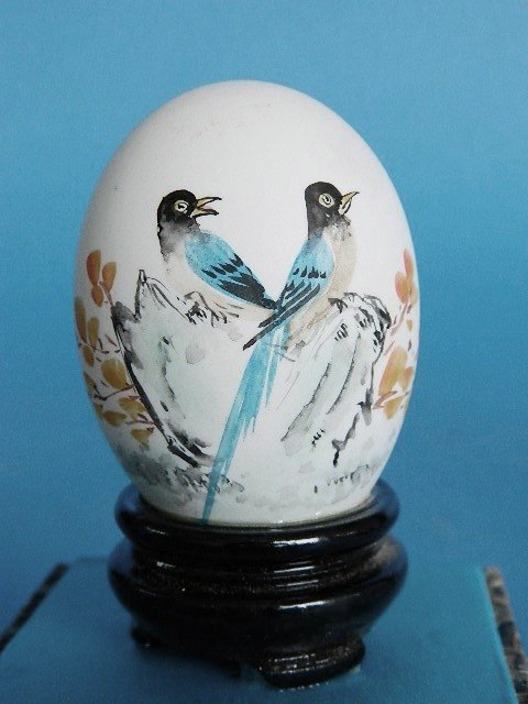 433: Set of 3 Japanese hand-painted egg shells - 4