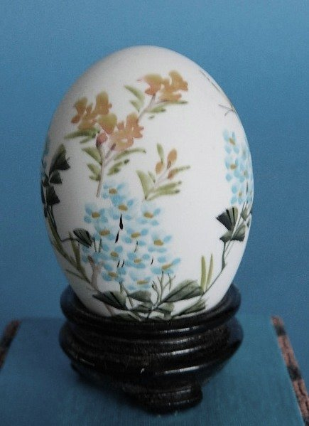 433: Set of 3 Japanese hand-painted egg shells - 7