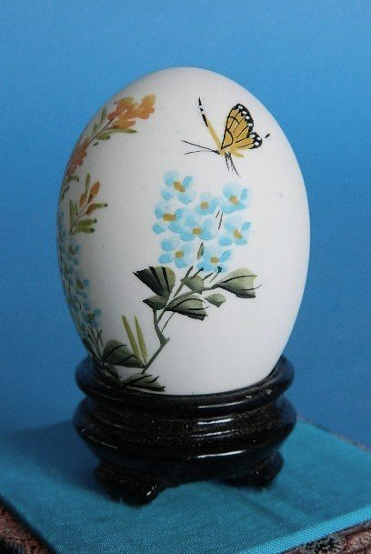 433: Set of 3 Japanese hand-painted egg shells - 8