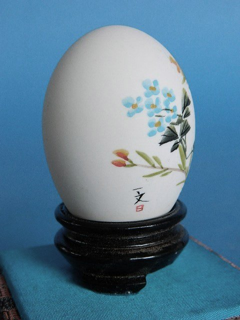 433: Set of 3 Japanese hand-painted egg shells - 9