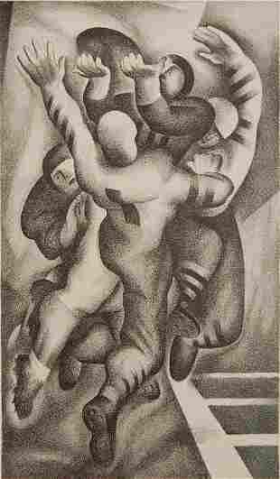 199: Benton Spruance lithograph