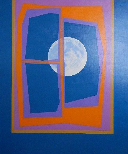 638: Leonard Everett Fisher acrylic