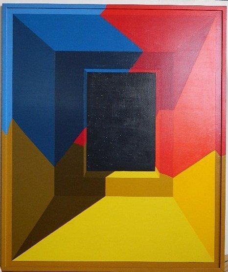 639: Leonard Everett Fisher acrylic