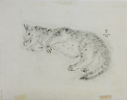 76: after Leonard Foujita etching