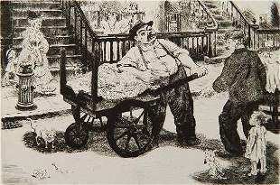 115: Peggy Bacon drypoint