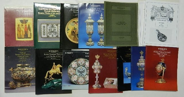 703: 14 Auction catalogs on Russian Art, Icons, etc.