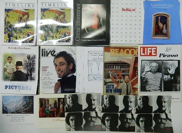711: 15 Periodicals, catalogs and brochures on art