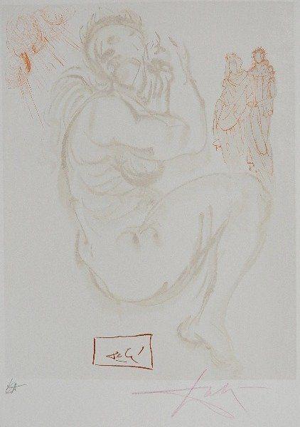 attrib. Salvador Dali wood engraving