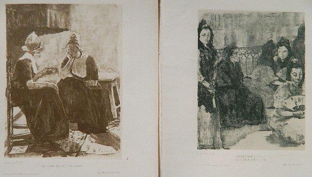 Alexandre Lunois 2 off-set lithographs