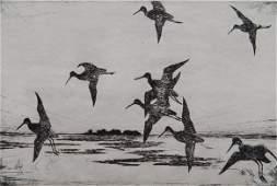 Frank Benson etching