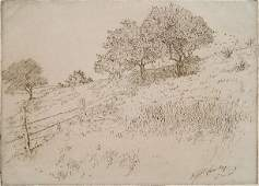 Edward T Hurley etching