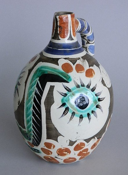 Pablo Picasso white earthenware pitcher