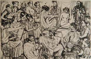 Peggy Bacon etching