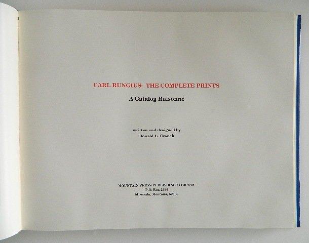 Crouch- Carl Rungius prints catalog raisonne - 2