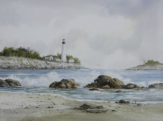 Fred Leach watercolor