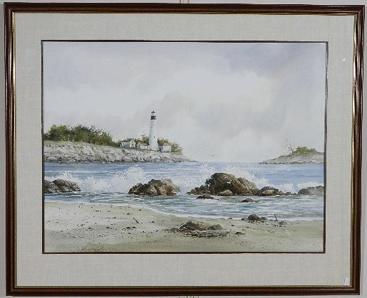 Fred Leach watercolor - 2