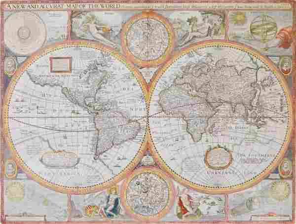 John Speed world map
