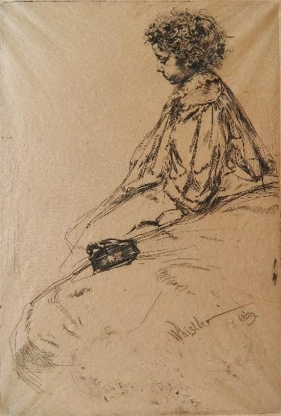 James A. M. Whistler etching and drypoint