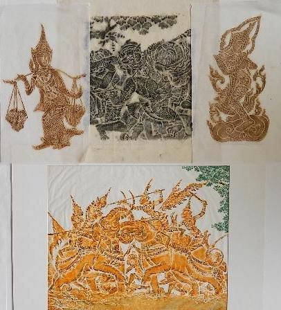 4 Thailand Rubbings, 20th c.