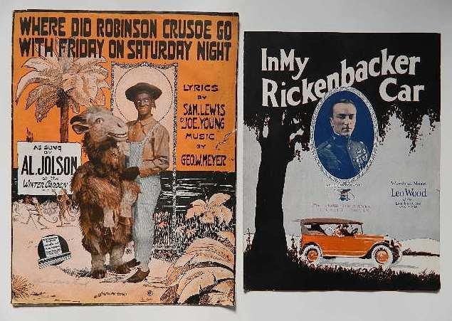 2 Vintage music sheets