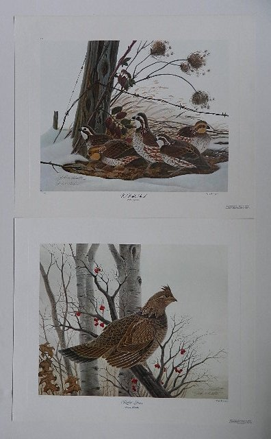 John Ruthven 4 off-set lithographs